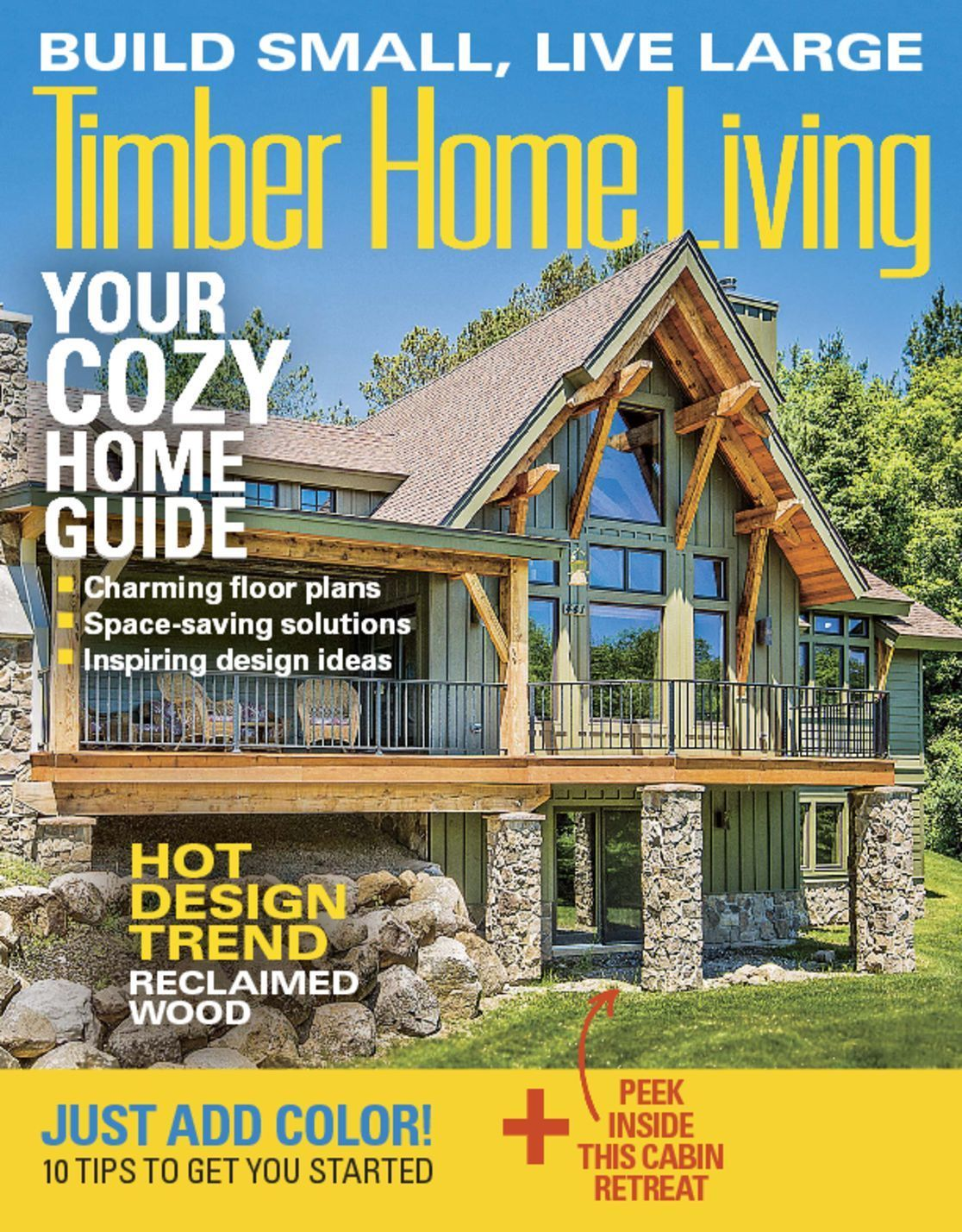 Timber Home Living Magazine Living Magazine And Beams