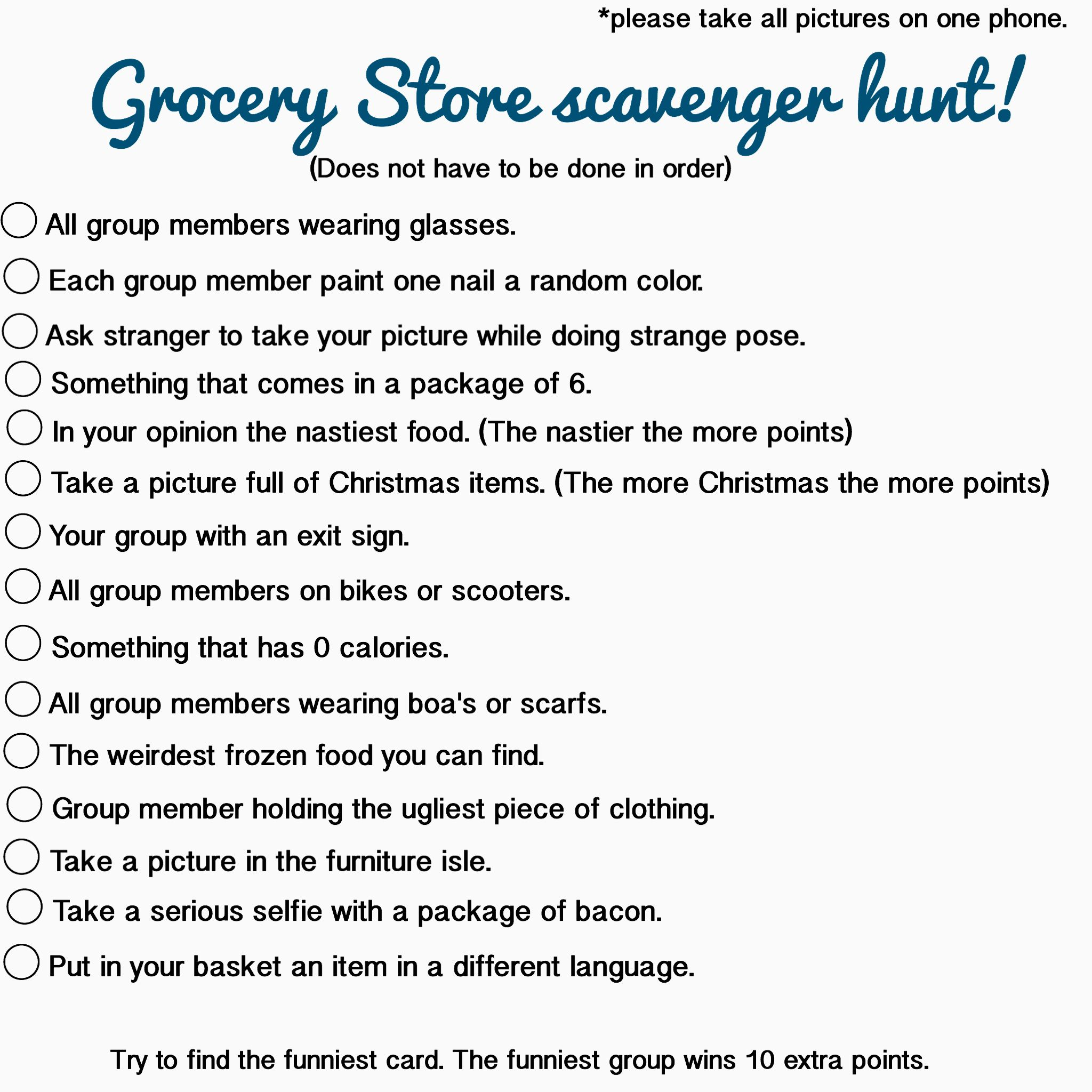 Scavenger hunt lists for teens opinion, you