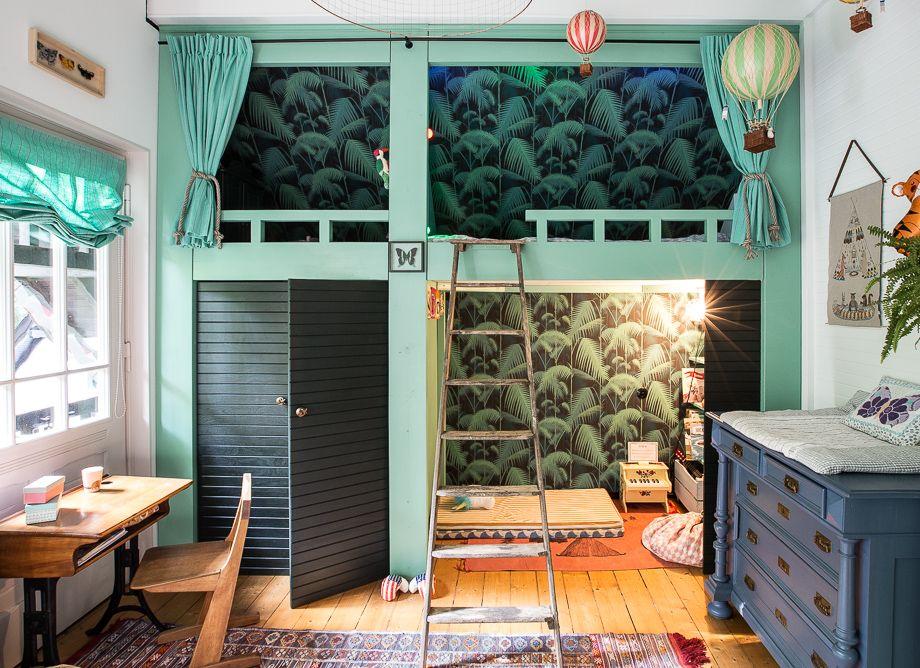 Das Tropische Kinderzimmer. Oder alles ist grün. Palmentapete ...