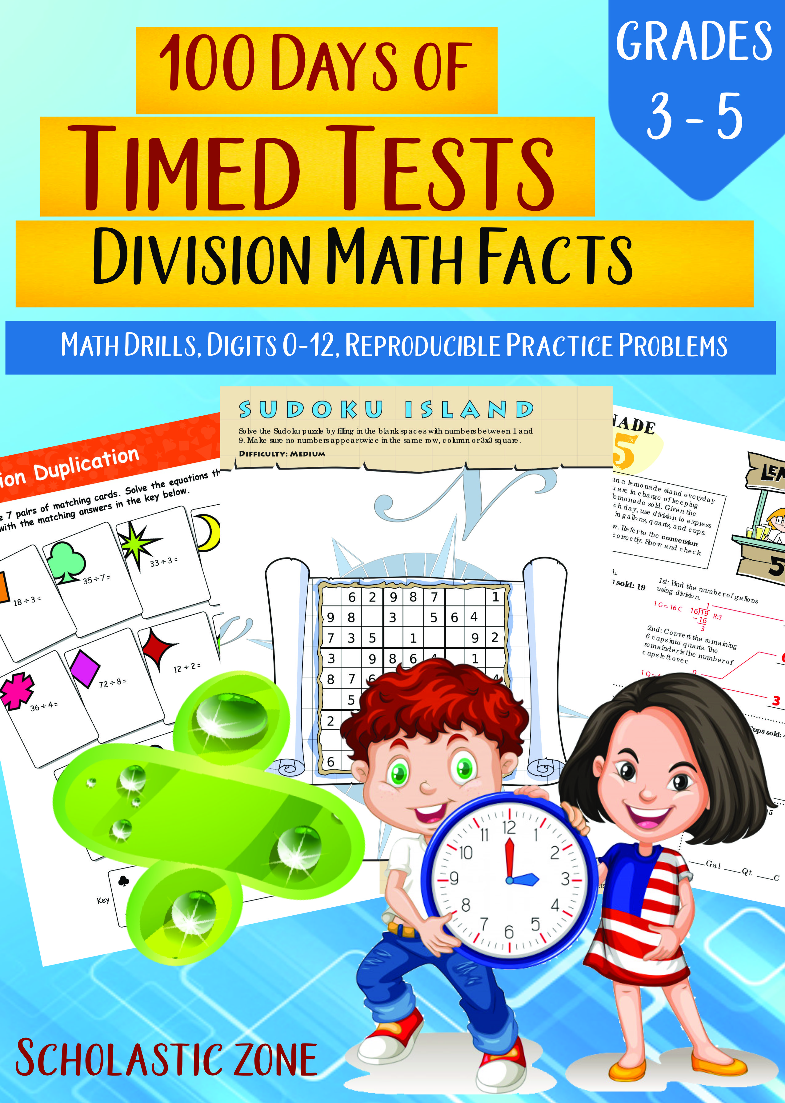 100 Days Of Timed Tests Division Math Facts Grades 3 5