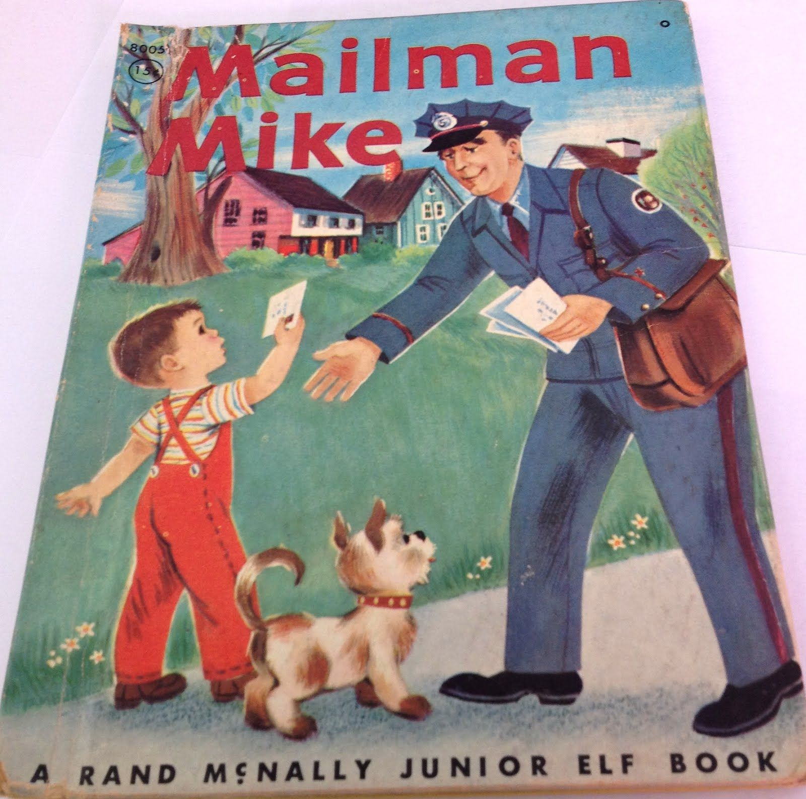 Mailman Mike! Childrens books illustrations, Vintage