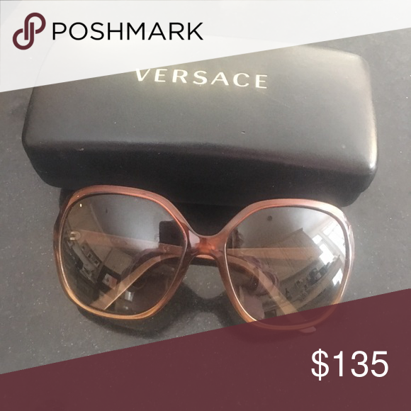 2e567a0a734f Vintage Versace sunglasses Beautifully maintained brown large rim Versace  sunglasses Versace Accessories Sunglasses