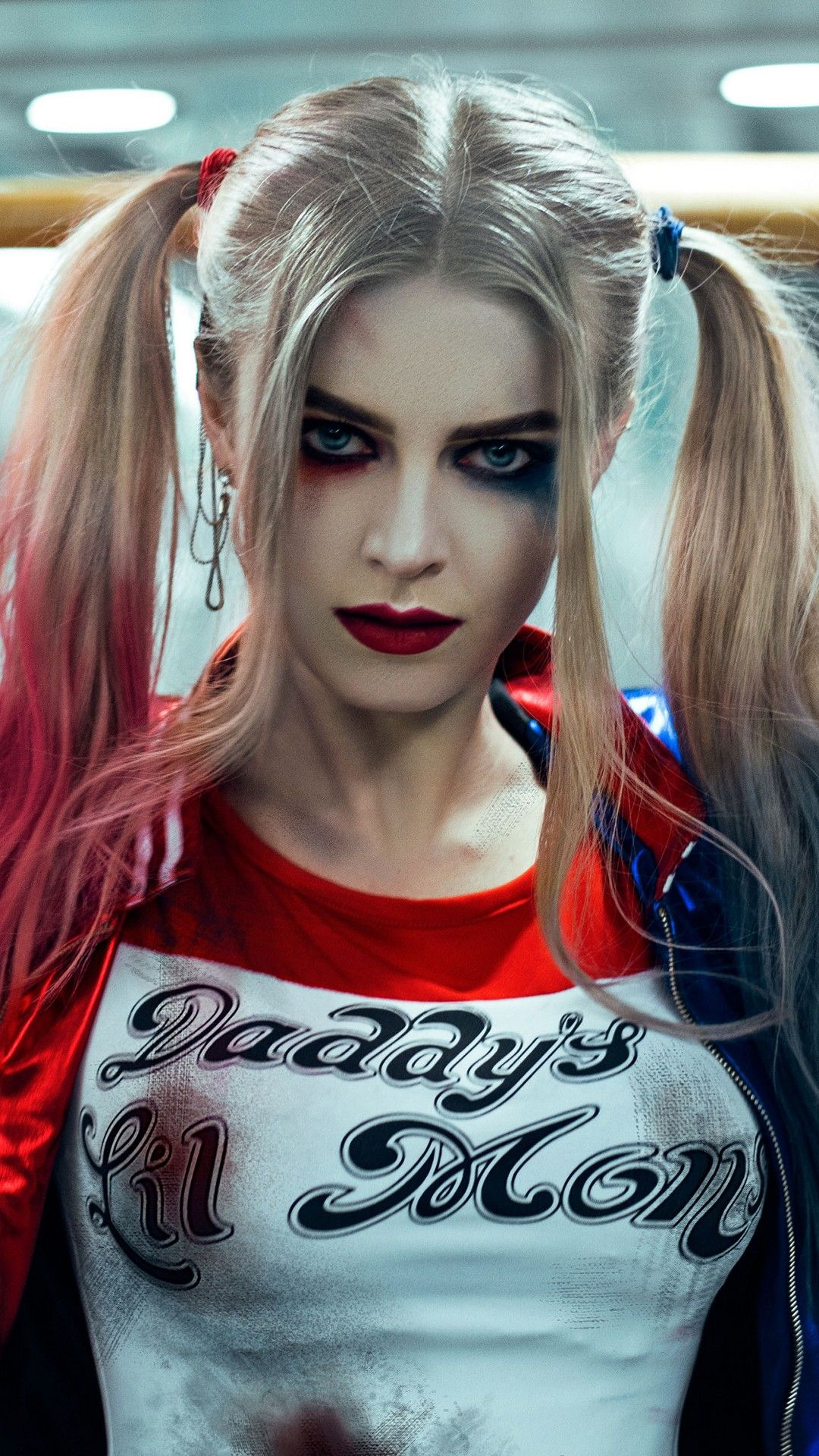 Wallpaper harley quinn makeup android best android - Harley quinn hd wallpapers for android ...