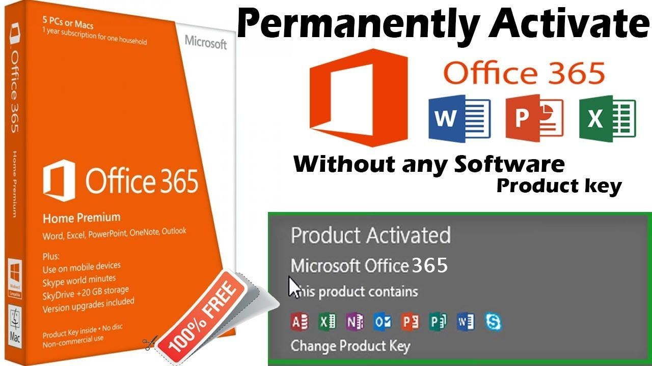 Permanently Activate Office 365 Proplus For Free Without Any Software Or Product Key 100 Legal Youtube Microsoft Office Office 365 Microsoft