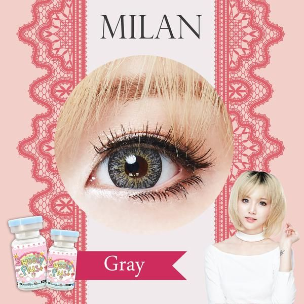 Sweety Milan Grey Contact Lenses Contact Lenses Colored Colored Contacts
