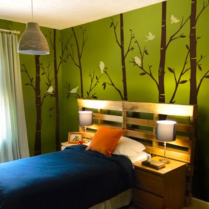 Thin Birch Tree Wall Decals Sticker Set   Simple Shapes Wall Decals,  Furniture, And