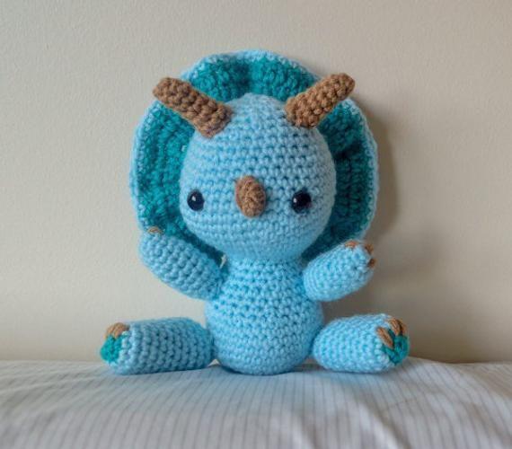 Amigurumi Dino Pattern / Crochet Dinosaur Pattern / Triceratops Pattern #crochetdinosaurpatterns
