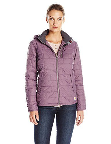 07c7841d3 Carhartt Womens Amoret Quilted Flannel Lined Jacket Vintage Violet Small  >>> Visit the image link more details.(This is an Amazon affiliate link and  I ...