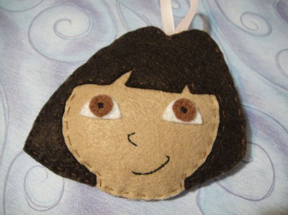 Handmade Dora the Explorer Felt Christmas Ornament by cazrajane