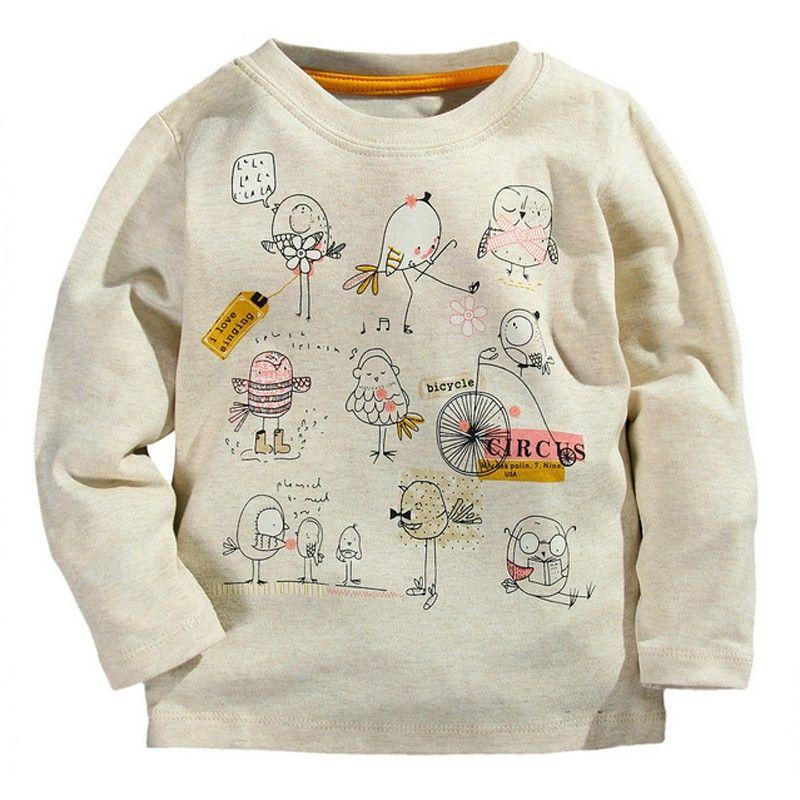 9e2e6f5b3dbd Free Autumn Winter 100% Cotton 9 Colors Kids Tees Boys Girls Long ...