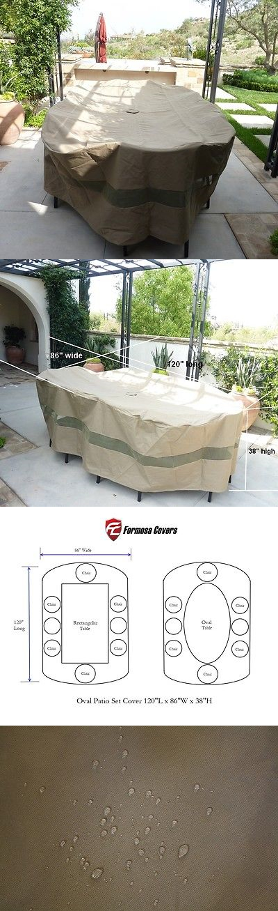 Outdoor Furniture Covers 177031: Oval Patio Set Covers 120 L X 86 W Fits  Rectangle Table