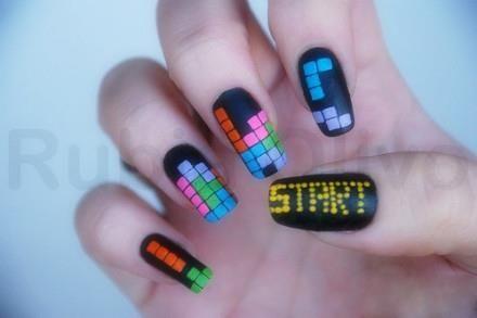 Tetris manicure!