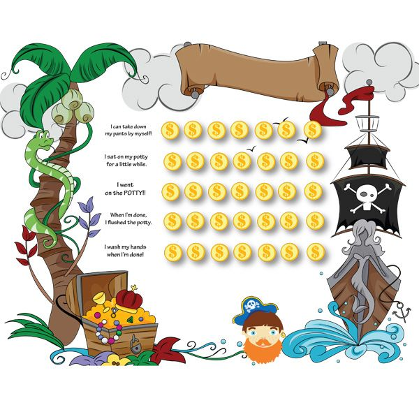 Free Pirate Potty Chart - Collect the Coins Potty Scotty Child - potty training chart