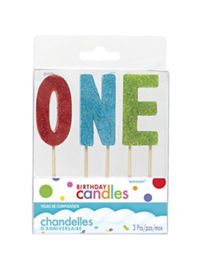 1st Birthday Number Candles