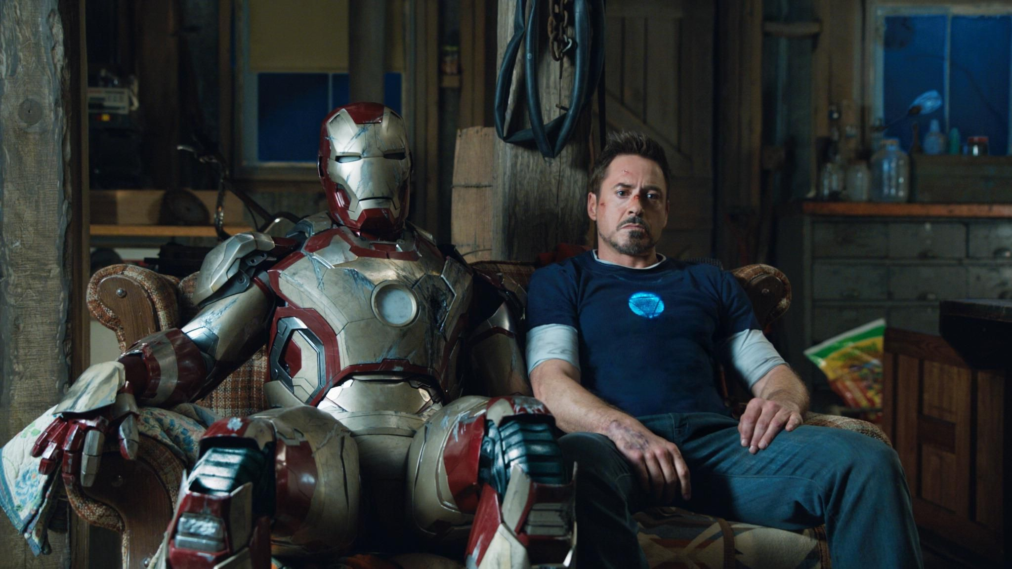 Tony Stark (played by Robert Downey Jr) having a rough night in ...