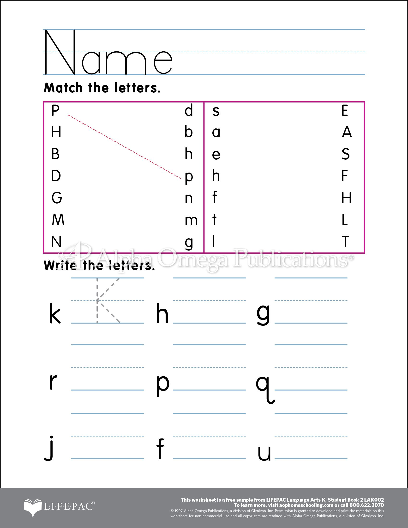 AOP Horizons free printable worksheet sample page download for – Homeschooling Worksheets