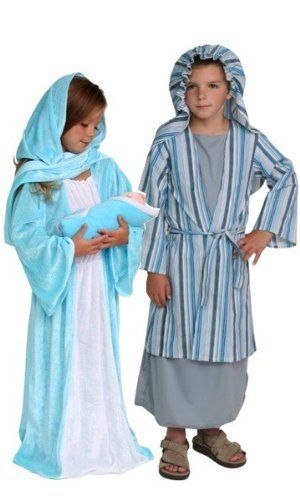 Christmas Mary Child Fancy Dress Nativity Play Costume All Ages