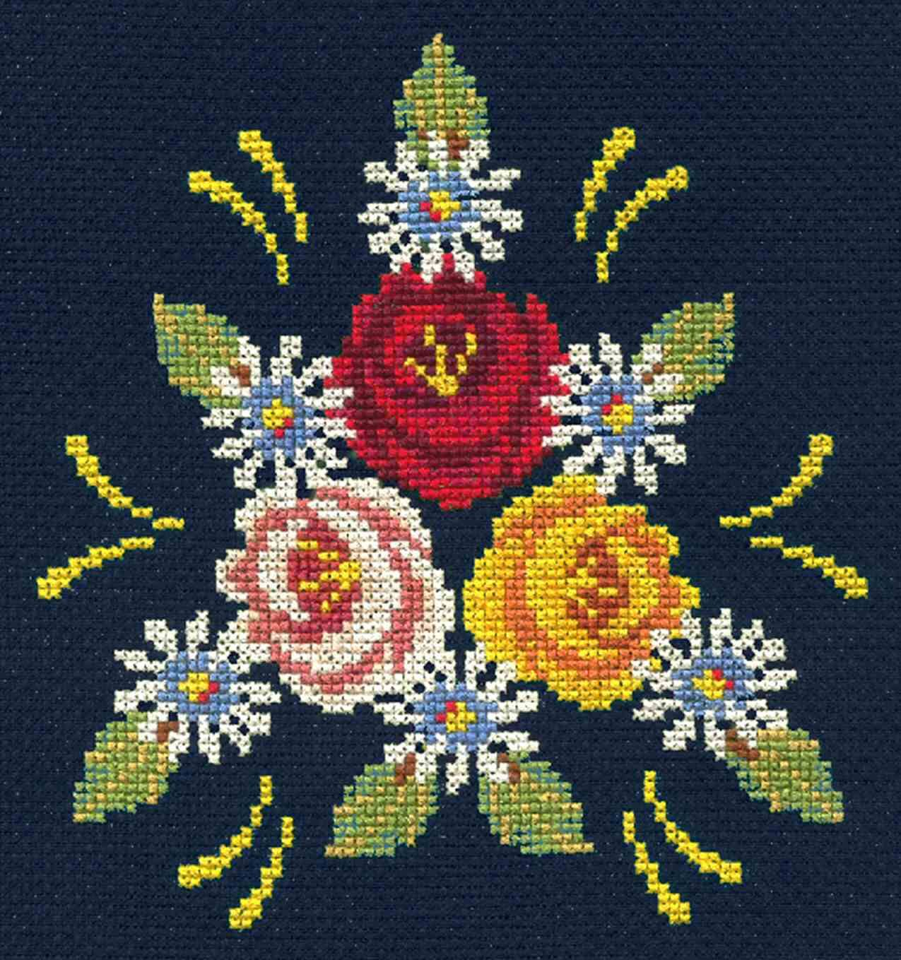 counted cross stitch kit in 2020  cross stitch flowers