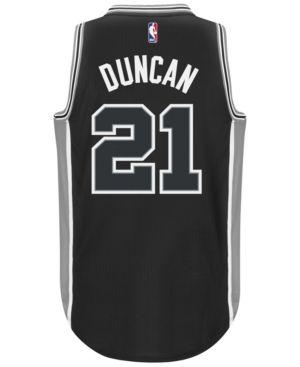 c30db8f3e16 adidas Men's Tim Duncan San Antonio Spurs Swingman Jersey - Black S ...