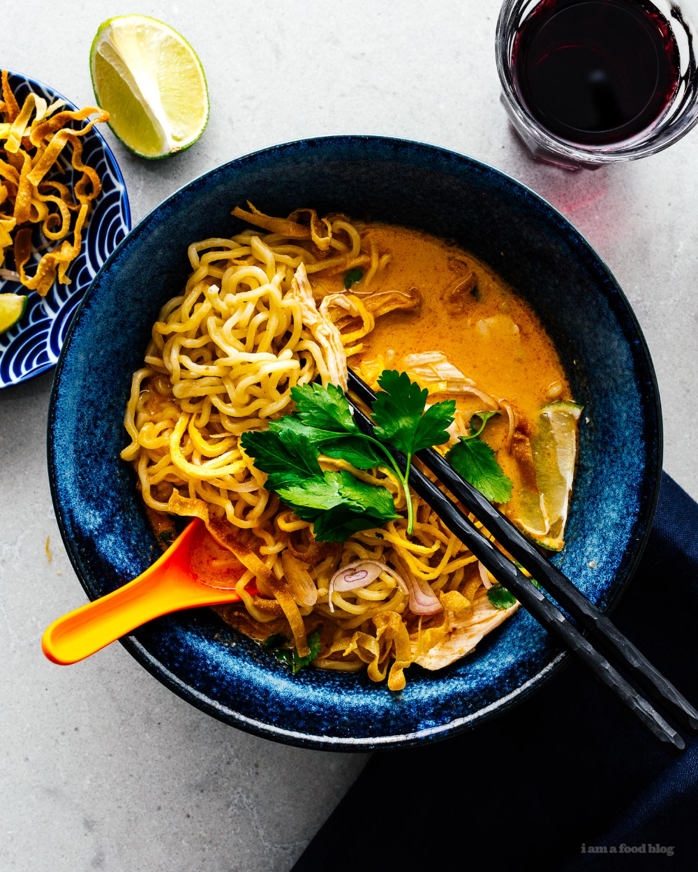 15 Minute Khao Soi: Thai Coconut Curry Chicken Noodle Soup Recipe · i am a food blog i am a food blog