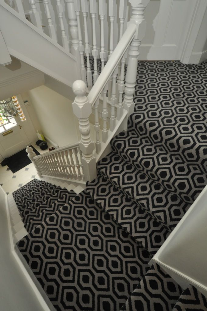 BowloOM RUNNER ON STAIRS AND FULLY CARPETED ON LANDING   PATTERNED CARPET