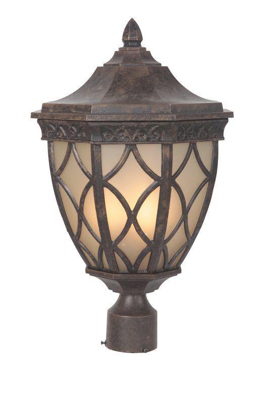 Craftmade Z7225 Evangeline 3 Light Outdoor Post Peruvian Bronze Lighting Lights