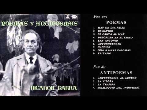 Poemas Y Antipoemas Nicanor Parra Writer Poetry Movie Posters