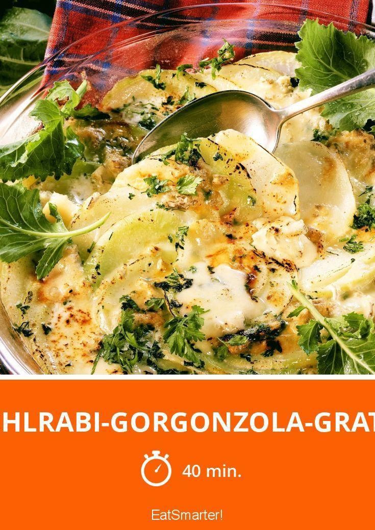 Kohlrabi Gorgonzola Gratin