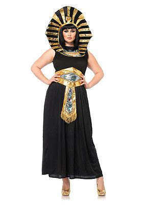 Womens Plus Size Egyptian Queen Costume sz 3X 4X 22-24  a22384782