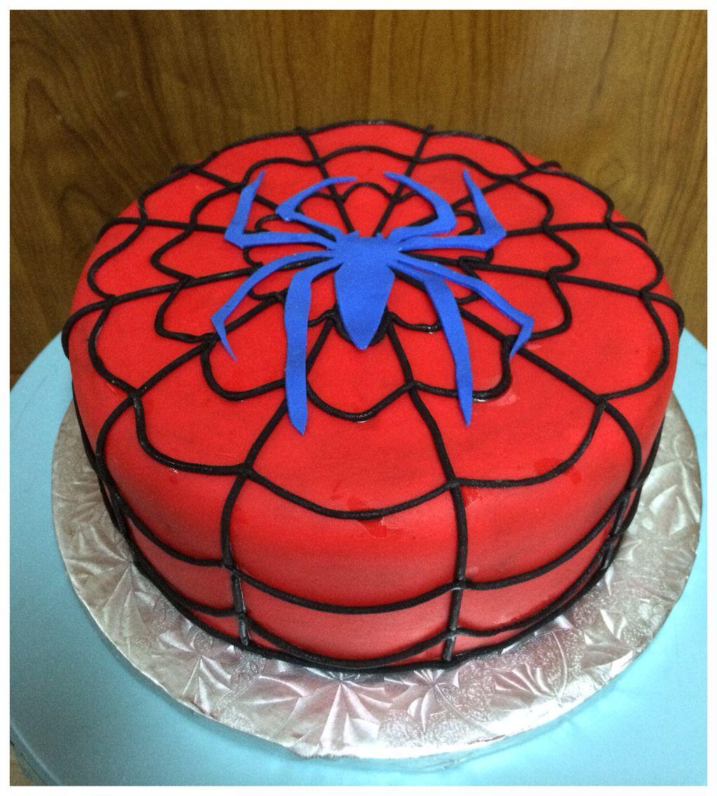 17th Cake. spiderman cake