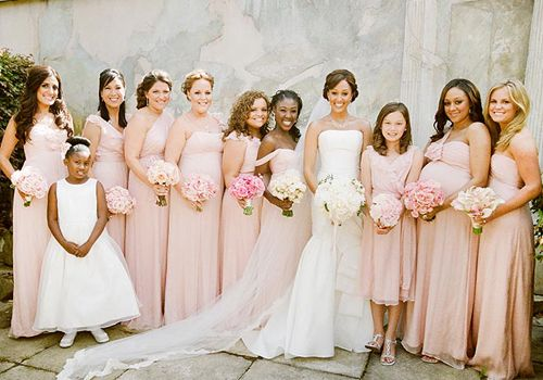 Tamera Mowry's Blush Pink Bridesmaid Dresses | Blush dresses ...