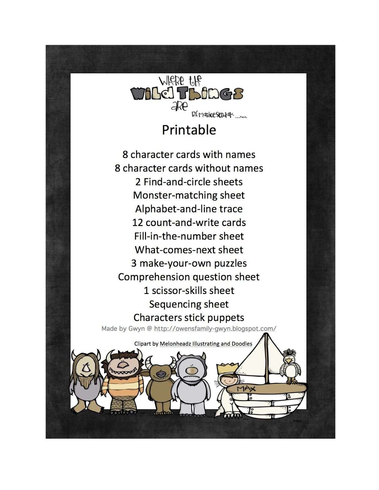 It's just a picture of Breathtaking Where the Wild Things Are Printables for Free