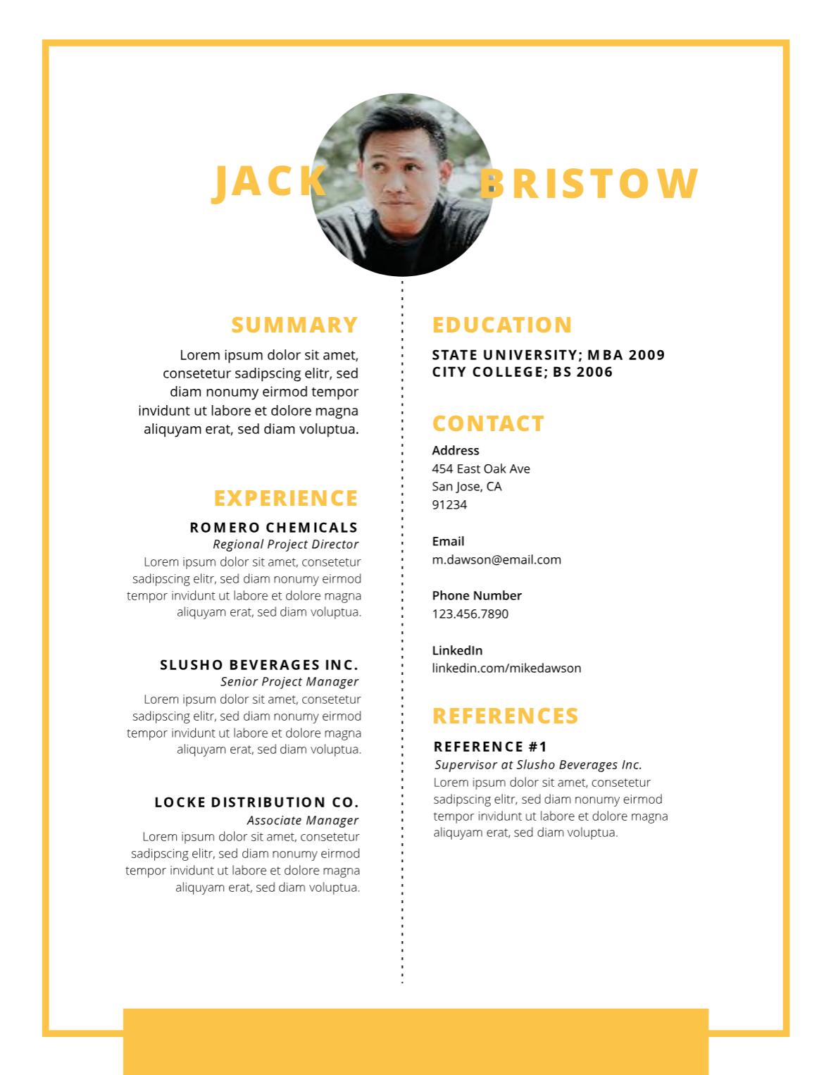 Creative Infographic Resume Template Infographic Resume