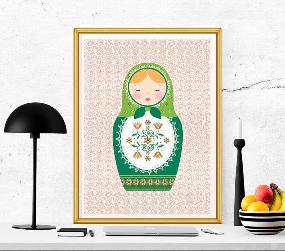 $1.5 Russian doll printable matryoshka print babuska by SoulPrintables