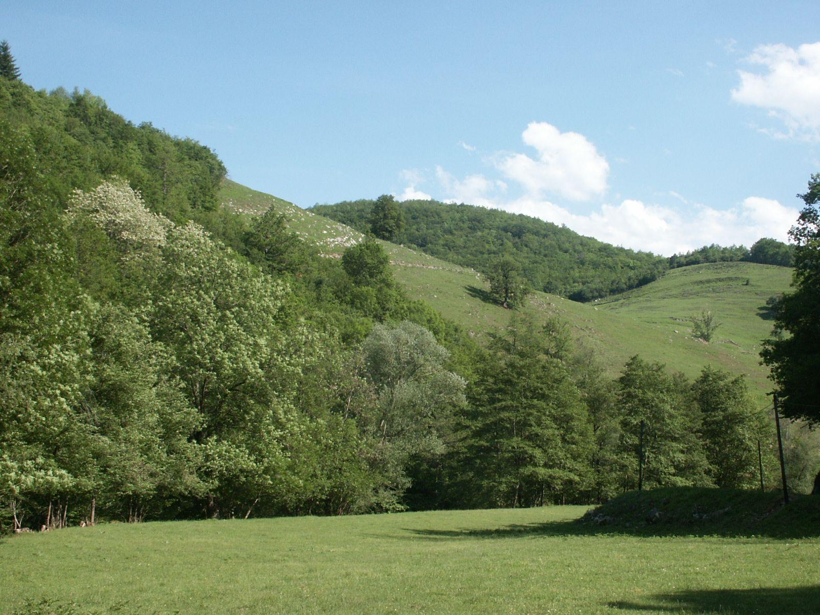 Paysage de plaine à proximité du Mas-d'Azil