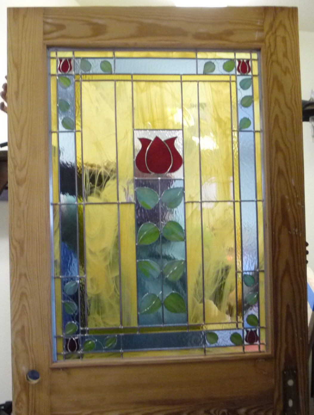 STAINED GLASS ART AND CRAFT DESIGN KITCHEN DOOR FOR CAROLINA BED ...