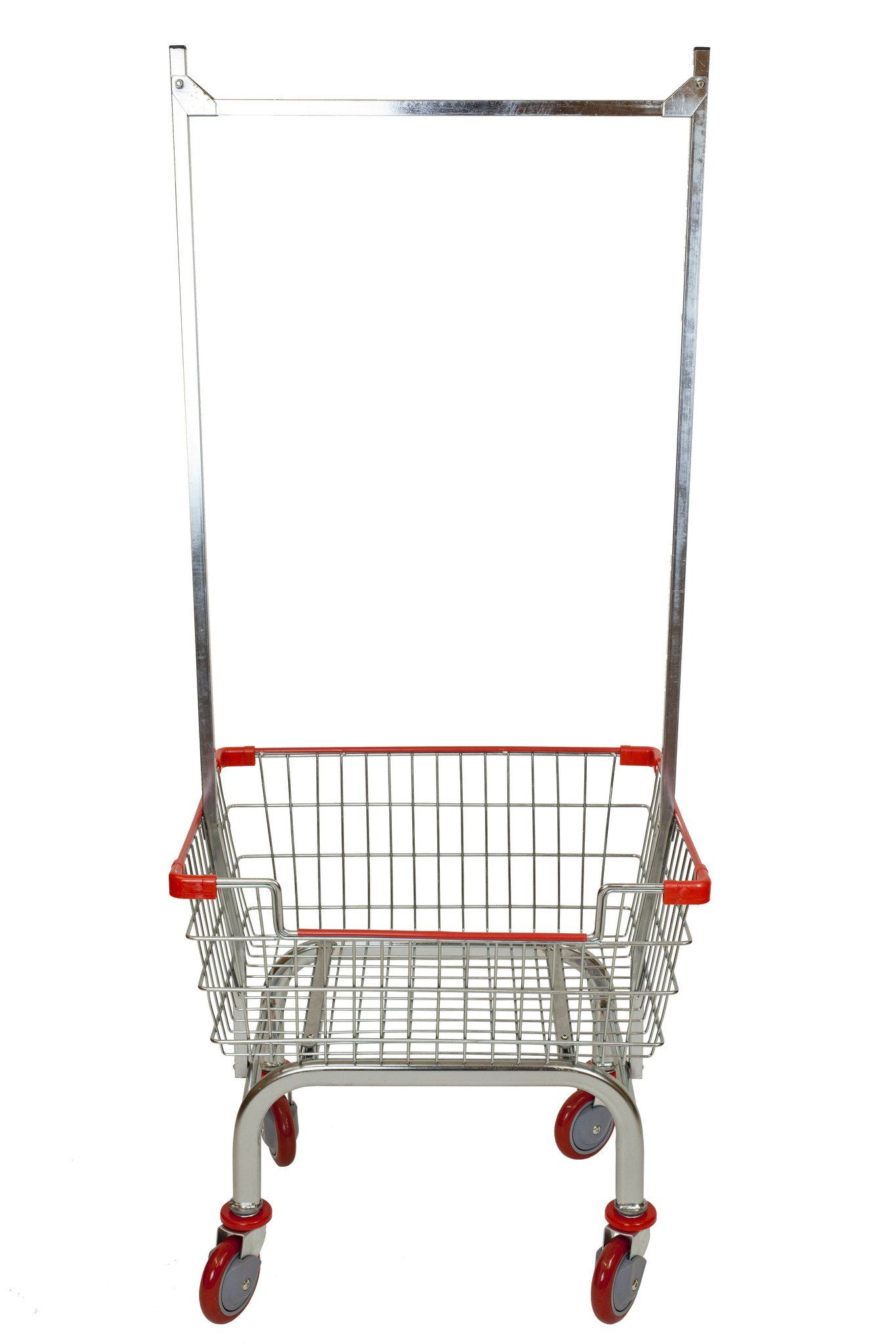 Cart supply Coin Laundry Cart Laundry Cart chrome without Pole Rack RED