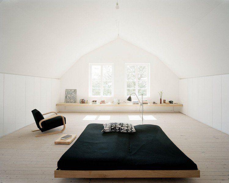 Chambre sous combles en 25 idées d\'aménagement tendance | Lits bas ...