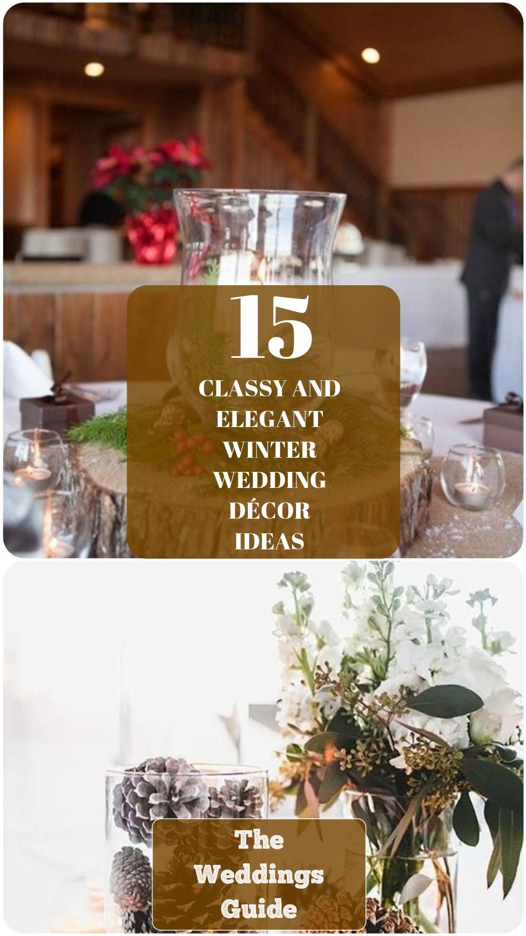 Winter Wedding Decor Ideas #weddingdecor
