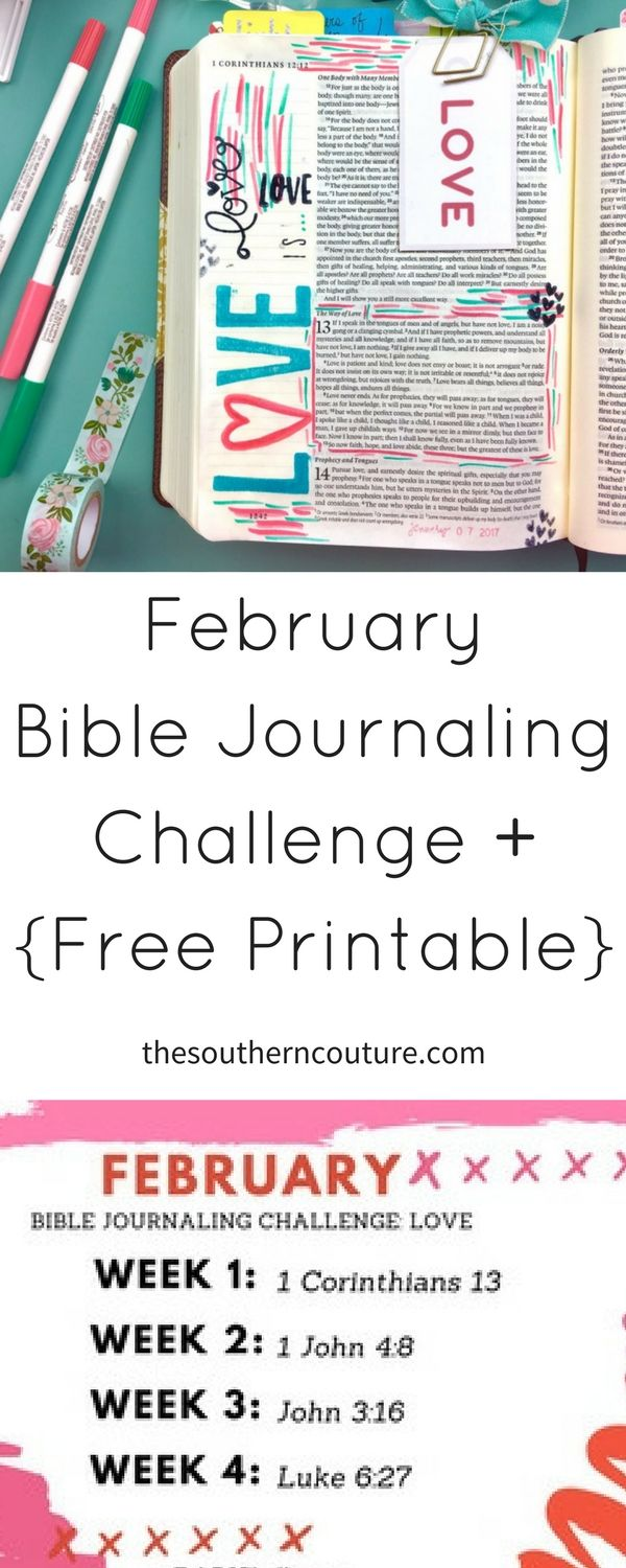 Make your time in the Word a priority with Bible study and Bible  journaling. Take this February Bible journaling challenge and commit to one  entry per week ...