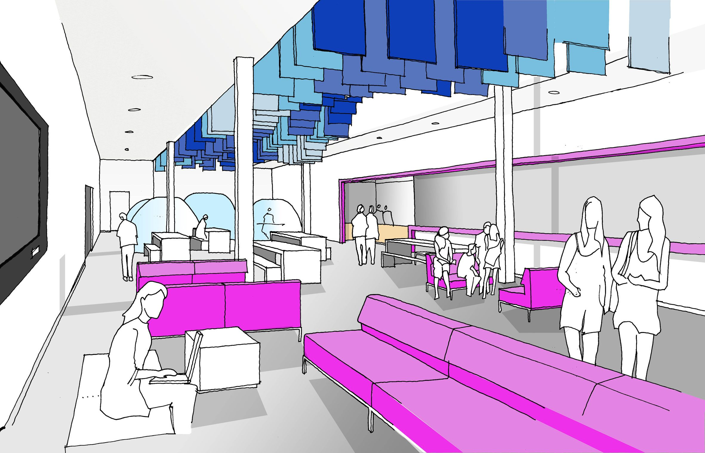 University Of Portsmouth Interiors For The Third Space Completed
