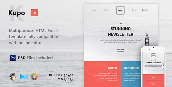 Kupo HTML Email Template Builder Campaign Monitor And Template - Export mailchimp template