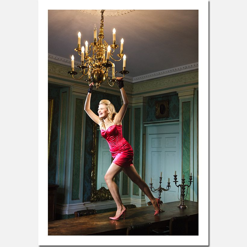Chandelier Swinging Wonder Woman, From A Chandelier