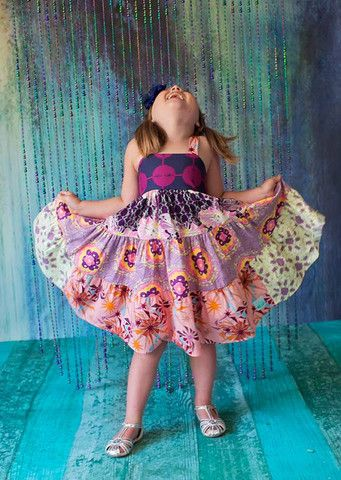 Shattered Lilac Tiered Dress – Little Wellies