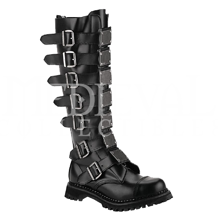 Plated Knee High Gothic Boots - FW2050 by Medieval Collectibles