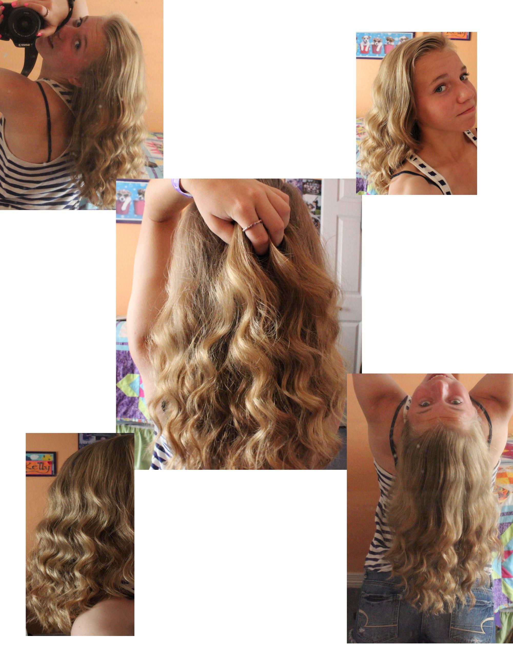 No Heat Overnight Loose Curls