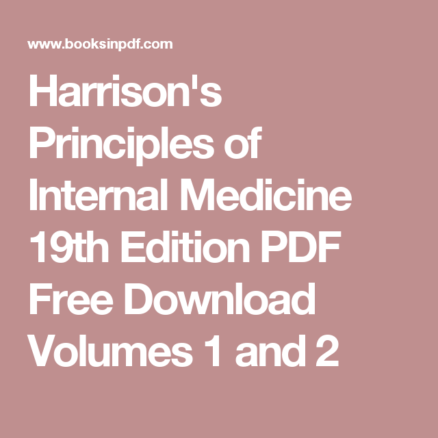 Harrison S Principles Of Internal Medicine 19th Edition Pdf Free