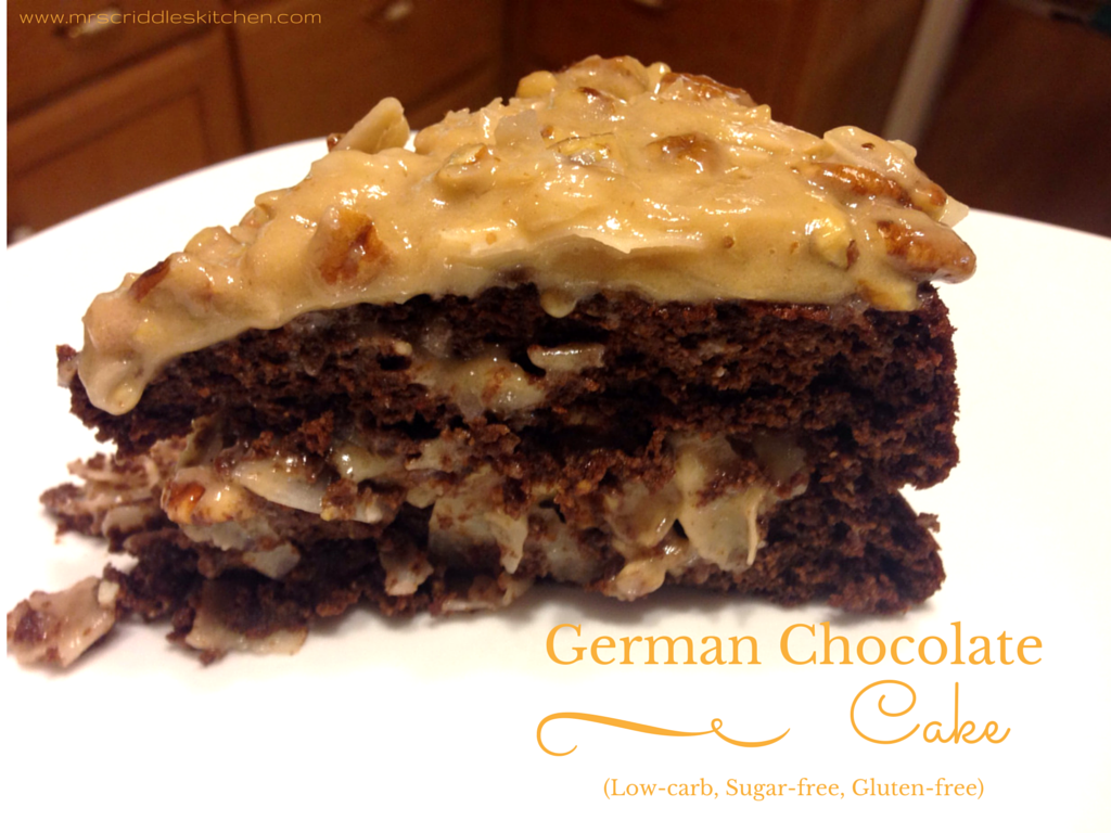 A lowcarb sugarfree German Chocolate Cake that tastes AMAZING