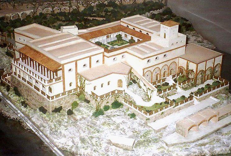 Reconstruction model of Villa Pollius Felix (aka villa Limona ...