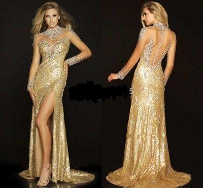 Vestidos Dorados De Noche Bonito Vestidos Dorados De Noche